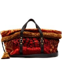 e5ff12faf4 Versace - Tasselled Printed Velvet Bag - Lyst