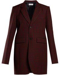 Balenciaga - Single Breasted Checked Wool Jacket - Lyst
