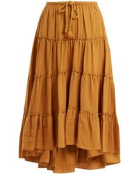 See By Chloé | Tiered Cotton Skirt | Lyst