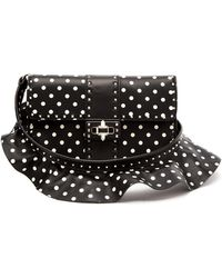 Valentino - Rockstud Polka Dot Cross Body Leather Bag - Lyst