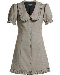 ALEXACHUNG - Puritan Collar Babydoll Dress - Lyst