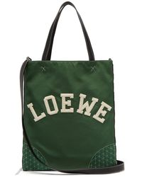 Loewe - Sneaker Leather And Nylon Tote Bag - Lyst