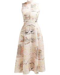 Emilia Wickstead Sheila Italy Print Midi Dress