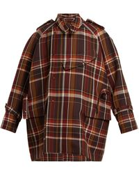 Acne Studios - Oversized Checked Wool Blend Coat - Lyst