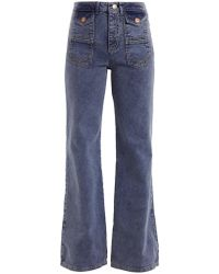 See By Chloé - High-rise Flared Jeans - Lyst