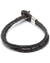 Paul Smith - Double Wrap Leather Bracelet - Lyst