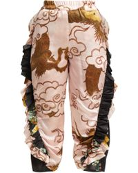 By Walid - Sissy Antique Silk Trousers - Lyst