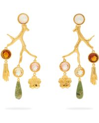 Lizzie Fortunato - Relic Crystal Embellished Chandelier Earrings - Lyst
