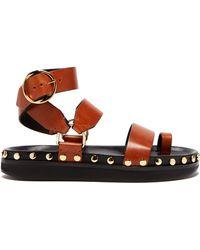 Isabel Marant - Nirvy Stud Embellished Leather Sandals - Lyst