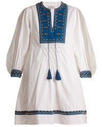 Talitha - Ilaria Bead-embellished Cotton Dress - Lyst