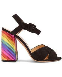 Charlotte Olympia - Emma Rainbow Suede Sandals - Lyst