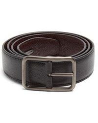 Lanvin - Dish Axis Reversible Leather Belt - Lyst