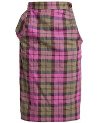 Vivienne Westwood Anglomania - Tartan Cotton-blend Pencil Skirt - Lyst