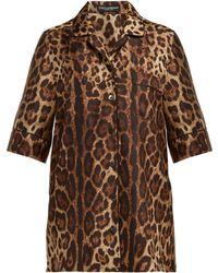 Dolce & Gabbana - Leopard Print Silk Twill Pyjama Top - Lyst