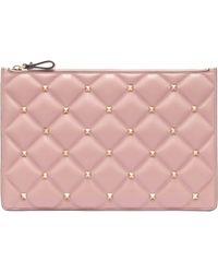 Valentino - Candystud Quilted Leather Pouch - Lyst