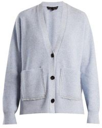Proenza Schouler - V-neck Ribbed-knit Cotton-blend Cardigan - Lyst