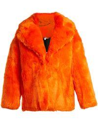 Diane von Furstenberg - Oversized Faux Fur Jacket - Lyst