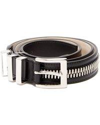 Balmain - Zip-detailed Leather Belt - Lyst
