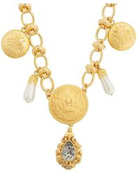 Dolce & Gabbana - Crest-embossed Necklace - Lyst