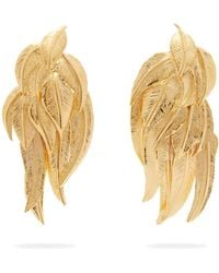 Aurelie Bidermann - Elvira Gold-plated Clip Earrings - Lyst