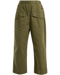 Chimala - Patch-pocket Cotton Trousers - Lyst