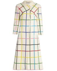Mary Katrantzou - Benatar Grid-print Wool Coat - Lyst