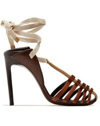Saint Laurent - Majorelle & Mansour Leather Sandals - Lyst