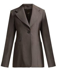 Lemaire - Single-breasted Wool Blazer - Lyst