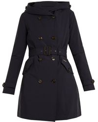 Woolrich - Double-breasted Hooded Trench Coat - Lyst