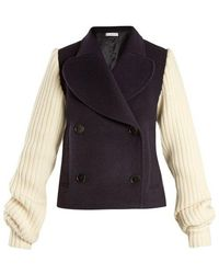 JW Anderson - Double-breasted Contrast-sleeve Wool-blend Coat - Lyst