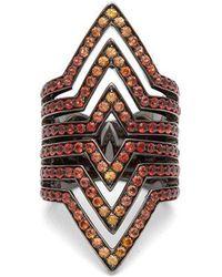 Lynn Ban - Vice Sapphire & Rhodium-plated Ring - Lyst