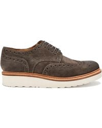 Grenson - Archie Suede Brogues - Lyst