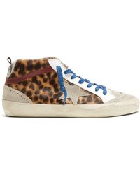 Golden Goose Deluxe Brand - Midstar Suede And Leather Trainers - Lyst