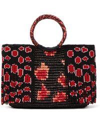 Sensi Studio - Bead-embellished Toquilla-straw Bag - Lyst