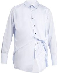Wooyoungmi | Gathered Double Layered Cotton Shirt | Lyst