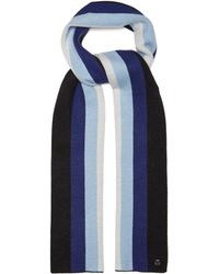 Charlotte Simone Striped Wool And Cashmere Blend Scarf
