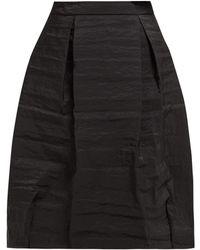 Simone Rocha High Rise Pleated Taffeta Midi Skirt