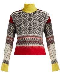 N°21 - Fair Isle Roll Neck Sweater - Lyst