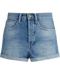 Raey - Low Cut-off Denim Shorts - Lyst