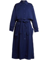 Stella McCartney - Caban Elasticated-waist Crepe Trench Coat - Lyst