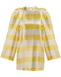 By. Bonnie Young - Striped Silk Blend Lamé Dress - Lyst