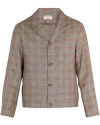 Éditions MR - Bonaparte Checked Linen-blend Jacket - Lyst