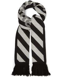 Off-White c/o Virgil Abloh - Logo Intarsia Striped Scarf - Lyst