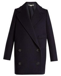 Stella McCartney - Edith Double-breasted Wool-blend Coat - Lyst
