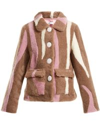 Saks Potts | Lucy Wave-pattern Shearling Jacket | Lyst