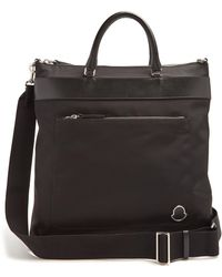 Moncler - Nylon And Leather-trimmed Tote - Lyst