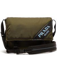 Prada - Logo Nylon Messenger Bag - Lyst