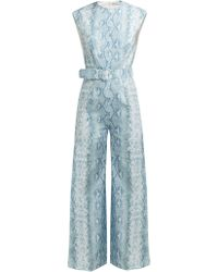 Emilia Wickstead - Barbara Python Print Linen Jumpsuit - Lyst