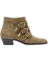 Chloé - Susanna Suede Ankle Boots - Lyst