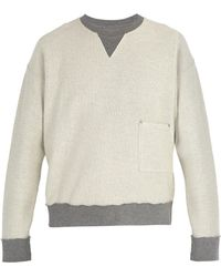 Maison Margiela - Sweat-shirt réversible en coton - Lyst
